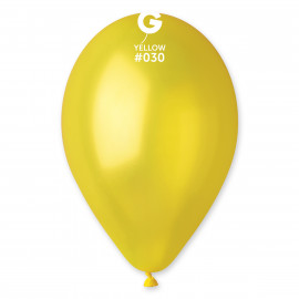 Balonky 1ks žluté 26cm metalické