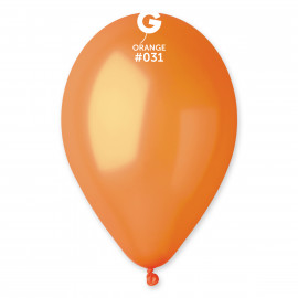 Balonky 100ks oranžové 26cm metalické