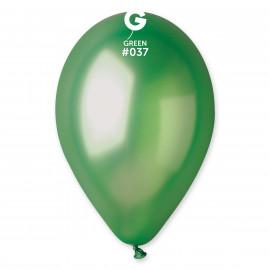 Balonky 1ks zelené 26cm metalické