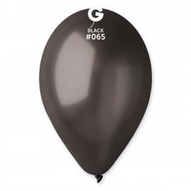 Balonky 100ks černé 26cm metalické