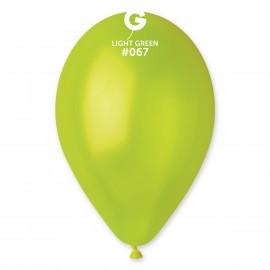 Balonky 100ks zelené 26cm metalické