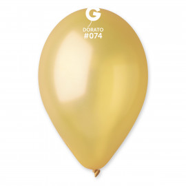 Balonky 100ks bronzové 26cm metalické