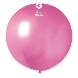 Balon latex 80cm -metal růžová 1ks