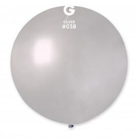 Balon latex 80cm -metal stříbrná 1ks