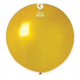 Balon latex 80cm - metal zlatá 1ks