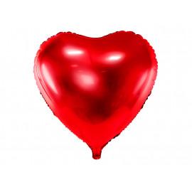 Balon foliový Srdce červené 61cm