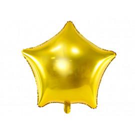 Balón foliový 48 cm  Hvězda zlatá metalická