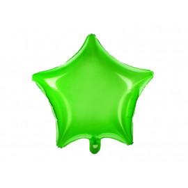 Balón foliový 48 cm  Hvězda zelená neonová
