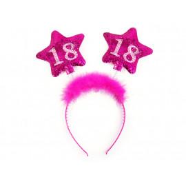 Čelenka s hvězdami 18, růžová