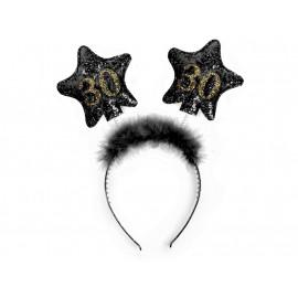 Čelenka s hvězdami 30, černá