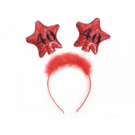 Čelenka s hvězdami 40, červená