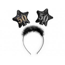 Čelenka s hvězdami 50, černá