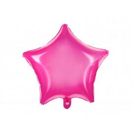 Balon foliový Hvězda růžová 48cm