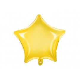 Balon foliový Hvězda neonově žlutá 48cm