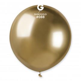 Balonek chromovaný 1ks Zlatý lesklý