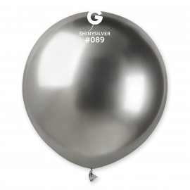 Balonek chromovaný 1ks Stříbrný lesklý 48cm