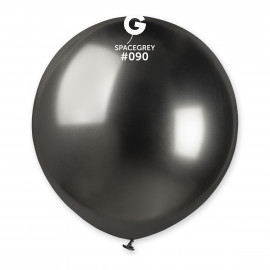 Balonek chromovaný 1ks Vesmírně šedý 48cm