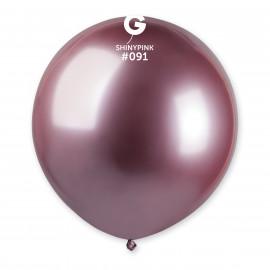Balonek chromovaný 1ks Růžový lesklý 48cm
