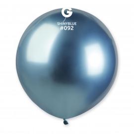 Balonek chromovaný 1ks Modrý lesklý 48cm