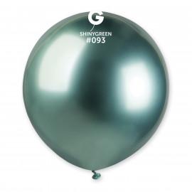 Balonek chromovaný 1ks Zelený lesklý 48cm