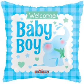 Balon foliový Polštář Vítej chlapečku 46cm