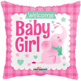 Balon foliový Polštář Vítej holčičko 46cm