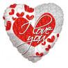 Balon foliový Srdce ILyou 46cm