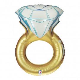 Balon foliový Zásnubní prsten 94cm
