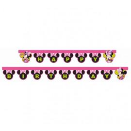 "Girlanda myška Minnie ""Happy Birthday"" 2 m"