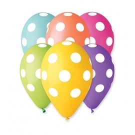 Balonky 30cm, pastelové s puntíky 1ks