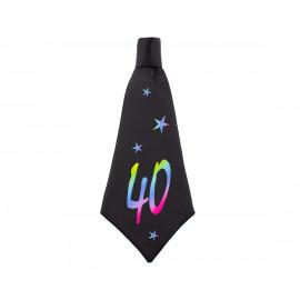 Narozeninová kravata 40, 42x18cm,1ks