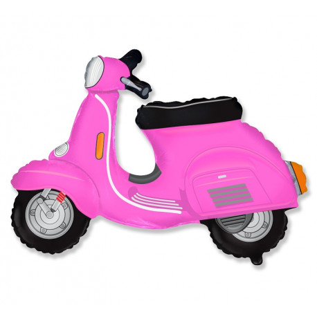 Balon foliový Scooter Pink 62cm