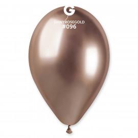 Balónky chromované 1 ks Rose gold - průměr 33 cm