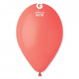 Balonky 1ks korálové 26 cm pastelové