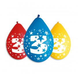 Závěsný balonek č.3, 30cm, pastel mix, bal.5ks