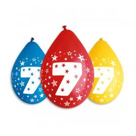 Závěsný balonek č.7, 30cm, pastel mix, bal.5ks