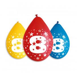 Závěsný balonek č.8, 30cm, pastel mix, bal.5ks