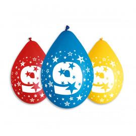Závěsný balonek č.9, 30cm, pastel mix, bal.5ks