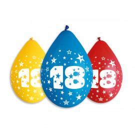 Závěsný balonek č.18, 30cm, pastel mix, bal.5ks
