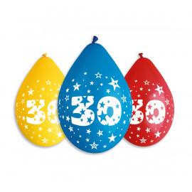 Závěsný balonek č.30, 30cm, pastel mix, bal.5ks