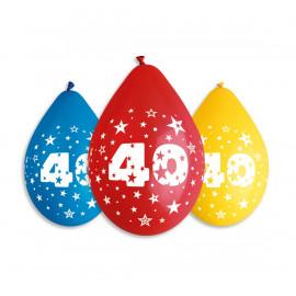 Závěsný balonek č.40, 30cm, pastel mix, bal.5ks
