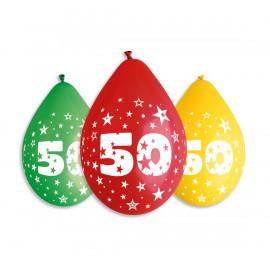 Závěsný balonek č.50, 30cm, pastel mix, bal.5ks