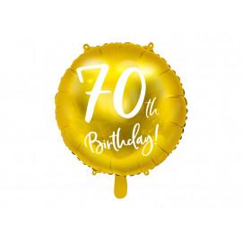 Balon foliový 70th birthday, 45cm