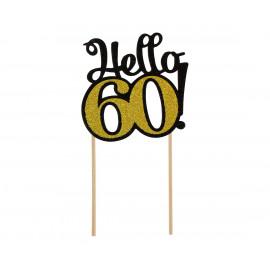 Dortový zápich Hello60,10x19cm