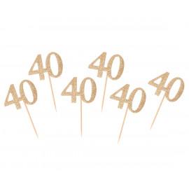 Dortová párátka 40gold, 6ks,10cm