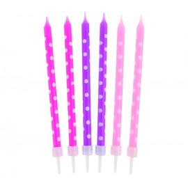 Narozeninové svíčky 24ks, pink/purple