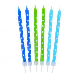 Narozeninové svíčky 24ks, blue/green