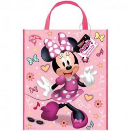 Dárková taška Myška MINNIE - plastová 28 x 33,5 cm