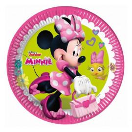 """Papírové talíře myška Minnie """"Minnie Happy Helpers"""" , 23 cm, 8 ks"""
