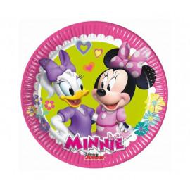 """Papírové talíře myška Minnie """"Minnie Happy Helpers"""", 20 cm, 8 ks"""